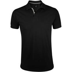 Oblačila Moški Polo majice kratki rokavi Sols PORTLAND MODERN SPORT Negro