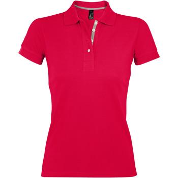 Oblačila Ženske Polo majice kratki rokavi Sols PORTLAND POLO MUJER Rojo