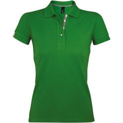 Oblačila Ženske Polo majice kratki rokavi Sols PORTLAND MODERN SPORT Verde