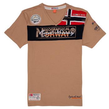 Oblačila Dečki Majice s kratkimi rokavi Geographical Norway JIDNEY Bež