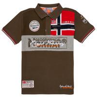 Oblačila Dečki Polo majice kratki rokavi Geographical Norway KIDNEY Kaki