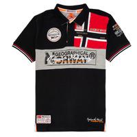 Oblačila Dečki Polo majice kratki rokavi Geographical Norway KIDNEY Črna