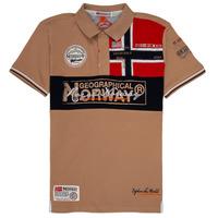 Oblačila Dečki Polo majice kratki rokavi Geographical Norway KIDNEY Bež