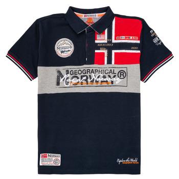Oblačila Dečki Polo majice kratki rokavi Geographical Norway KIDNEY Modra