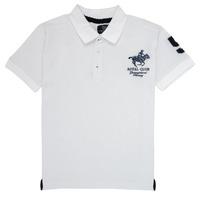 Oblačila Dečki Polo majice kratki rokavi Geographical Norway KAMPAI Bela