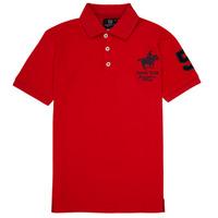 Oblačila Dečki Polo majice kratki rokavi Geographical Norway KAMPAI Rdeča