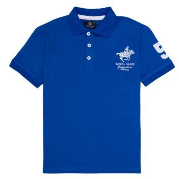 Oblačila Dečki Polo majice kratki rokavi Geographical Norway KAMPAI Modra