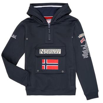 Oblačila Dečki Puloverji Geographical Norway GYMCLASS Modra