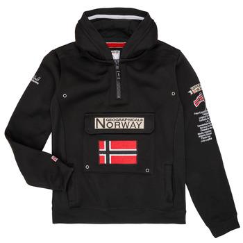 Oblačila Dečki Puloverji Geographical Norway GYMCLASS Črna