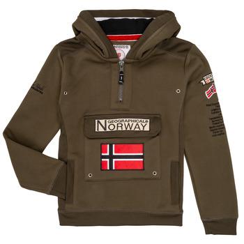 Oblačila Dečki Puloverji Geographical Norway GYMCLASS Kaki