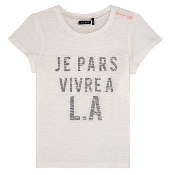 Oblačila Deklice Majice s kratkimi rokavi Ikks DARRIAL Bela