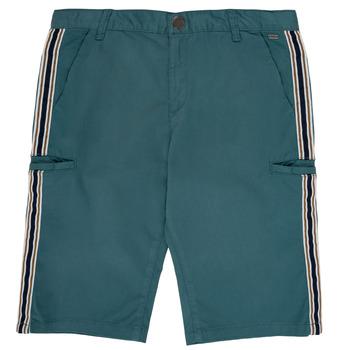 Oblačila Dečki Kratke hlače & Bermuda Ikks MANUELA Modra / Zelena