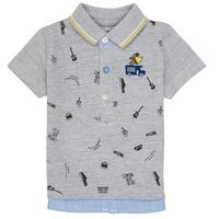 Oblačila Dečki Polo majice kratki rokavi Ikks MAELYS Siva