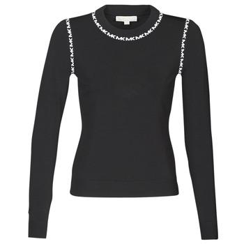 Oblačila Ženske Puloverji MICHAEL Michael Kors MK TRIM LS CREW Črna