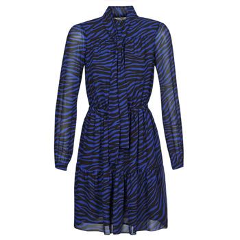 Oblačila Ženske Kratke obleke MICHAEL Michael Kors BOLD BENGAL TIER DRS Modra / Črna