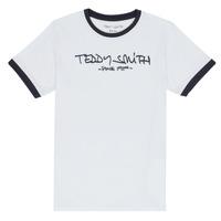 Oblačila Dečki Majice s kratkimi rokavi Teddy Smith TICLASS 3 Bela