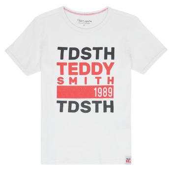 Oblačila Dečki Majice s kratkimi rokavi Teddy Smith DUSTIN Bela