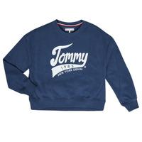 Oblačila Deklice Puloverji Tommy Hilfiger KG0KG04955 Modra