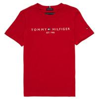 Oblačila Dečki Majice s kratkimi rokavi Tommy Hilfiger  Rdeča