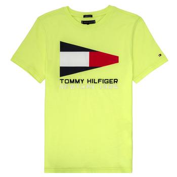 Oblačila Dečki Majice s kratkimi rokavi Tommy Hilfiger KB0KB05628 Rumena