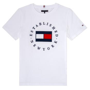 Oblačila Dečki Majice s kratkimi rokavi Tommy Hilfiger KB0KB05718 Bela