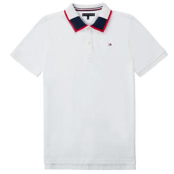 Oblačila Dečki Polo majice kratki rokavi Tommy Hilfiger KB0KB05658 Bela