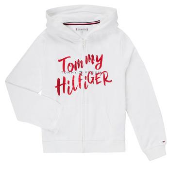 Oblačila Deklice Puloverji Tommy Hilfiger KG0KG05043 Bela