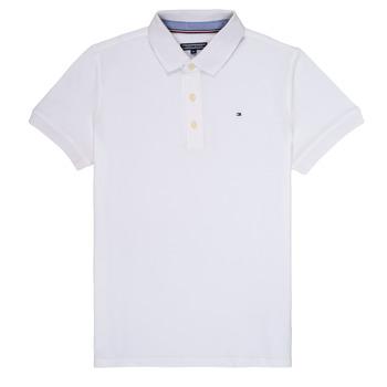 Oblačila Dečki Polo majice kratki rokavi Tommy Hilfiger KB0KB03975 Bela