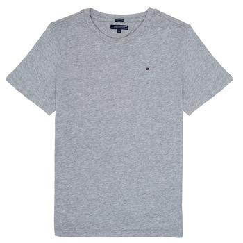 Oblačila Dečki Majice s kratkimi rokavi Tommy Hilfiger KB0KB04140 Siva