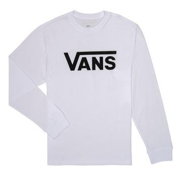 Oblačila Dečki Majice z dolgimi rokavi Vans BY VANS CLASSIC LS Bela