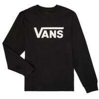Oblačila Dečki Majice z dolgimi rokavi Vans BY VANS CLASSIC LS Črna