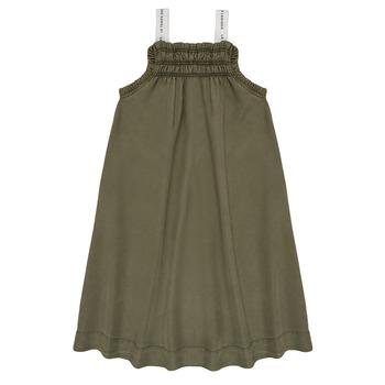 Oblačila Deklice Kratke obleke Le Temps des Cerises BIJA Kaki