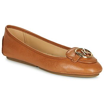 Čevlji  Ženske Balerinke MICHAEL Michael Kors LILLIE Cognac