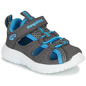 Čevlji  Dečki Sandali & Odprti čevlji Kangaroos KI-ROCK LITE EV Siva / Modra