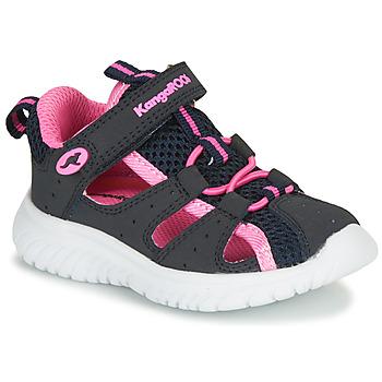 Čevlji  Deklice Sandali & Odprti čevlji Kangaroos KI-ROCK LITE EV Modra / Rožnata
