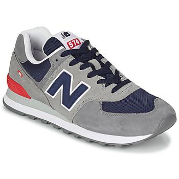 Čevlji  Moški Nizke superge New Balance 574 Siva / Modra / Rdeča