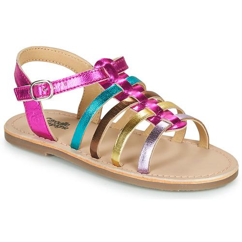 Čevlji  Deklice Sandali & Odprti čevlji Citrouille et Compagnie MAYANA Večbarvna