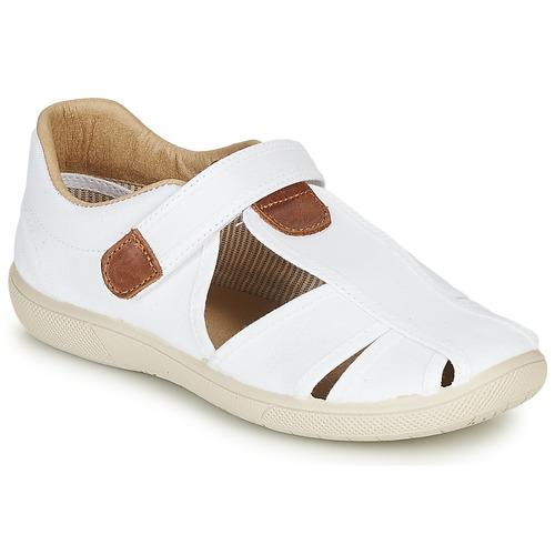 Čevlji  Dečki Sandali & Odprti čevlji Citrouille et Compagnie GUNCAL Bela