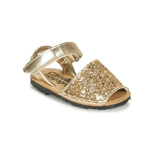 Čevlji  Deklice Sandali & Odprti čevlji Citrouille et Compagnie SQUOUBEL Pozlačena