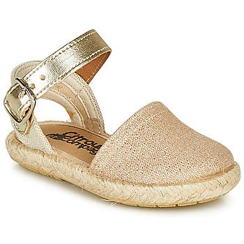 Čevlji  Deklice Sandali & Odprti čevlji Citrouille et Compagnie MIOSOTIS Pozlačena