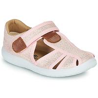 Čevlji  Deklice Sandali & Odprti čevlji Citrouille et Compagnie GUNCAL Rožnata / Metalíza