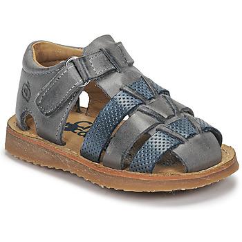 Čevlji  Dečki Sandali & Odprti čevlji Citrouille et Compagnie MISTIGRI Siva / Modra