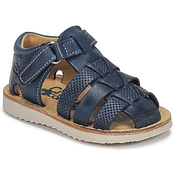 Čevlji  Dečki Sandali & Odprti čevlji Citrouille et Compagnie MISTIGRI Modra