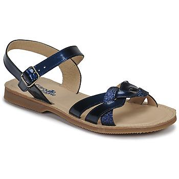 Čevlji  Deklice Sandali & Odprti čevlji Citrouille et Compagnie MADELLE Modra