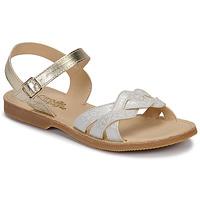Čevlji  Deklice Sandali & Odprti čevlji Citrouille et Compagnie MADELLE Srebrna