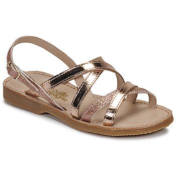 Čevlji  Deklice Sandali & Odprti čevlji Citrouille et Compagnie GENTOU Bronze / Bleščeča