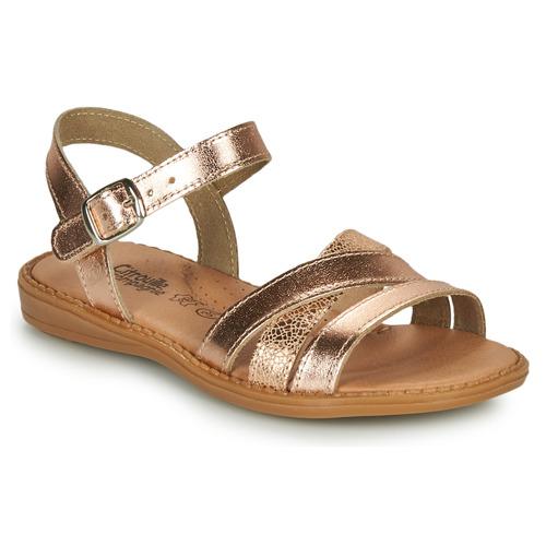 Čevlji  Deklice Sandali & Odprti čevlji Citrouille et Compagnie IZOEGL Bronze