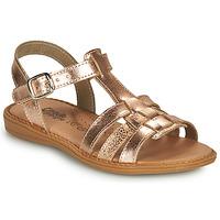 Čevlji  Deklice Sandali & Odprti čevlji Citrouille et Compagnie ROLUI Bronze