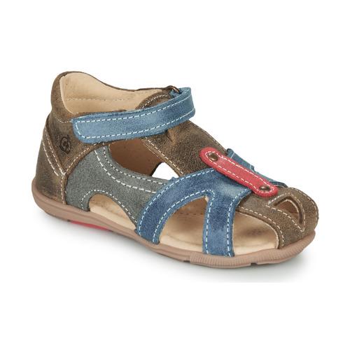 Čevlji  Dečki Sandali & Odprti čevlji Citrouille et Compagnie MARIOL Siva / Modra