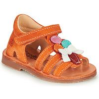 Čevlji  Deklice Sandali & Odprti čevlji Citrouille et Compagnie MIETTE Oranžna